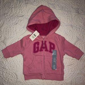NWT!!! Baby Gap pink zip hoodie. 0-3mth